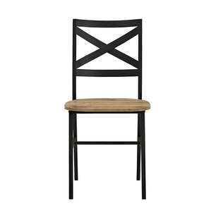 madelyn metal xback wood dining chair set of 2