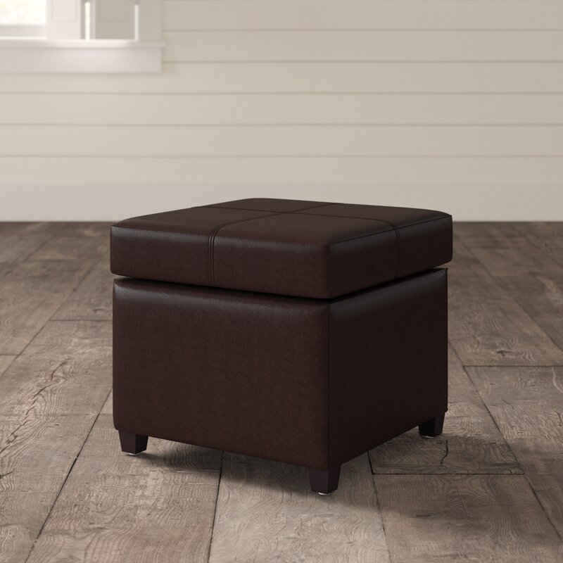 Super Leitch Storage Ottoman Gmtry Best Dining Table And Chair Ideas Images Gmtryco