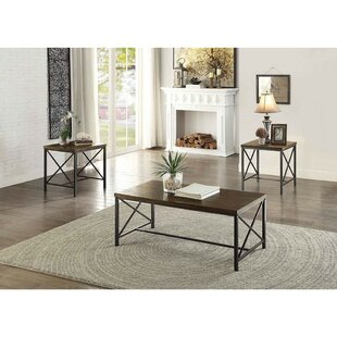17 Stories Brecken Metal 3 Coffee Table Set (Set of 3)