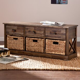 Halton Wood Storage Bench by Loon Peak