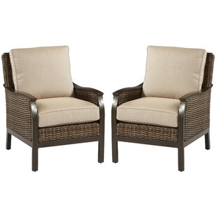 Bedard Sunbrella Patio Chair with Sunbrella Cushion (Set of 2)