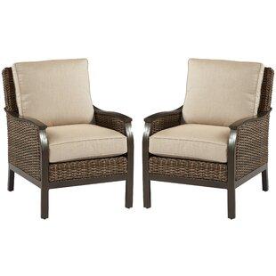 Bedard Sunbrella Patio Chair with Sunbrella Cushion (Set of 2) by Darby Home Co
