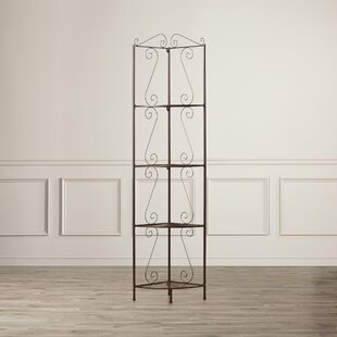 Yeatman Four Tier Corner Bookcase By Charlton Home