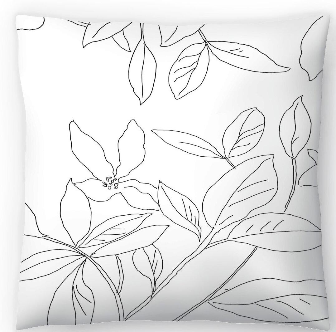 East Urban Home Delicate Movement Ii Throw Pillow Wayfair