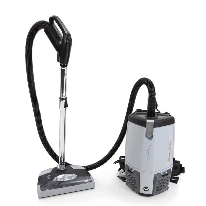 ProTeam Provac FS6 6 Qt  Commercial Backpack Vacuum Cleaner with Power Head