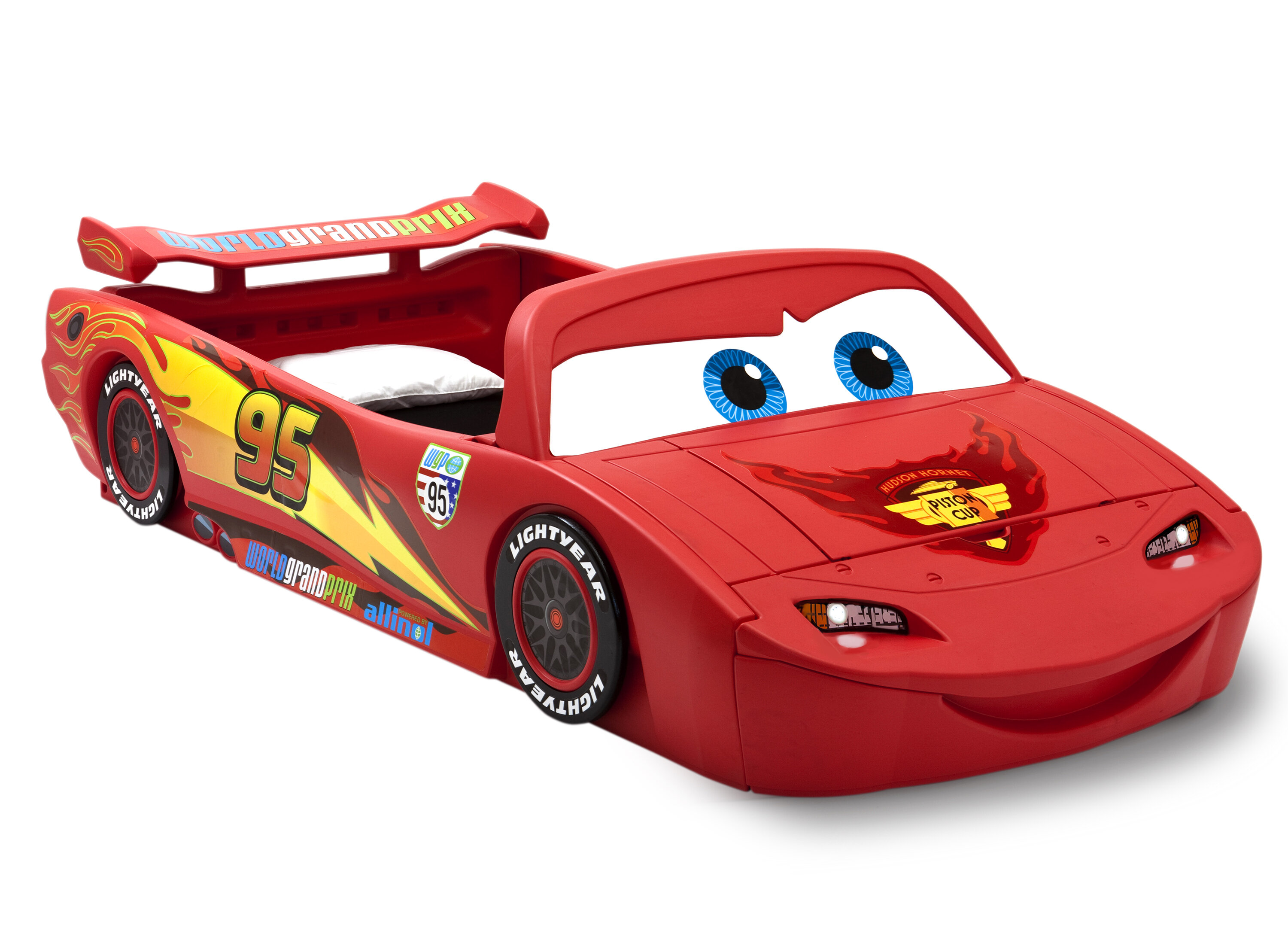 Delta Children Disney Pixar Cars Lightning Mcqueen Car Bed With Lights And Toy Box Reviews