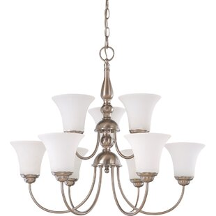 Kadyn 9-Light Shaded Chandelier by Charlton Home