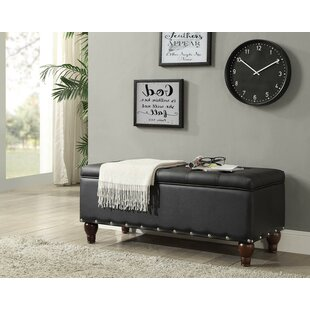 Runnels Faux Leather Storage Bench