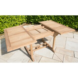 Dunblane Extendable Teak Dining Table By Sol 72 Outdoor