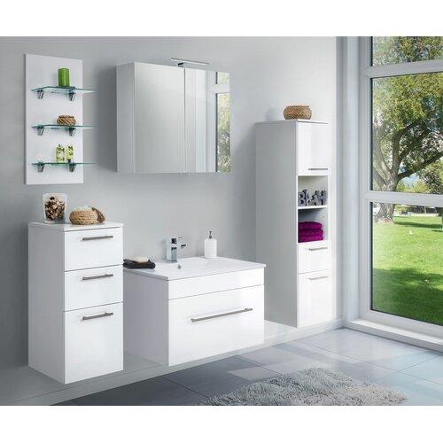 Viva 5-Piece Bathroom Furniture Set Belfry Bathroom Furniture Finish: High-gloss White