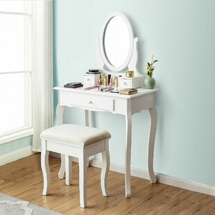 Compare Maddux Vanity Set with Mirror by Charlton Home