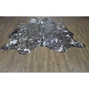 Price Check West Hewish Hand-Woven Cowhide Silver/Black Area Rug ByLoon Peak