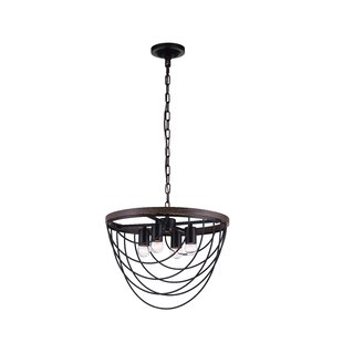 4-Light Geometric Chandelier by CWI Lighting