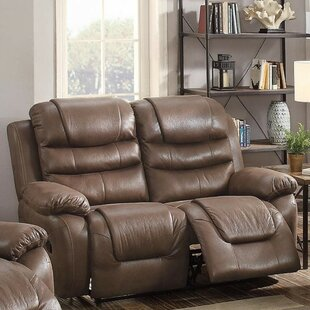 Charlton Home Royster Breathable Reclining Loveseat