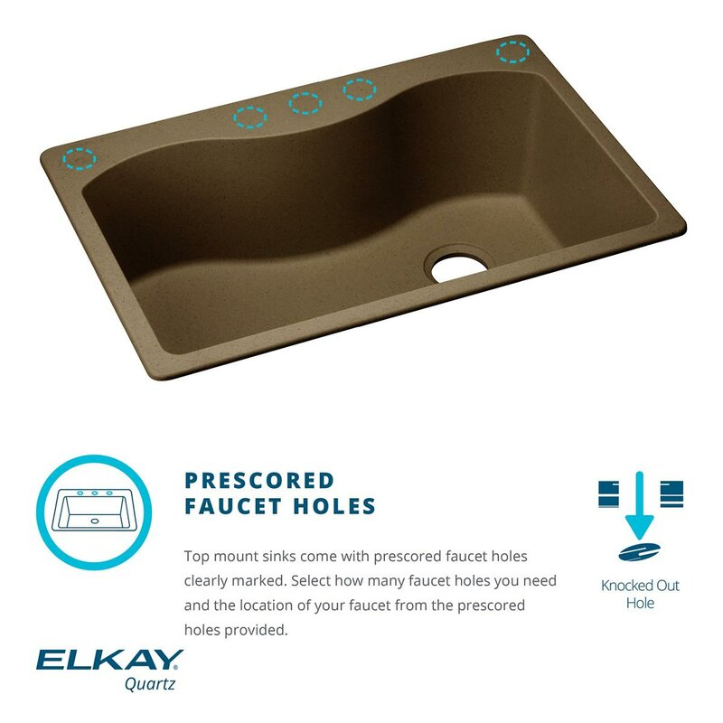 quartz classic 25   x 22   drop in kitchen sink elkay quartz classic 25   x 22   drop in kitchen sink  u0026 reviews      rh   wayfair com