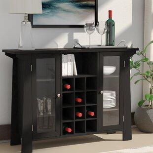 Zipcode Design Cendrillon Wood Storage 12 Bottle Floor Wine Cabinet