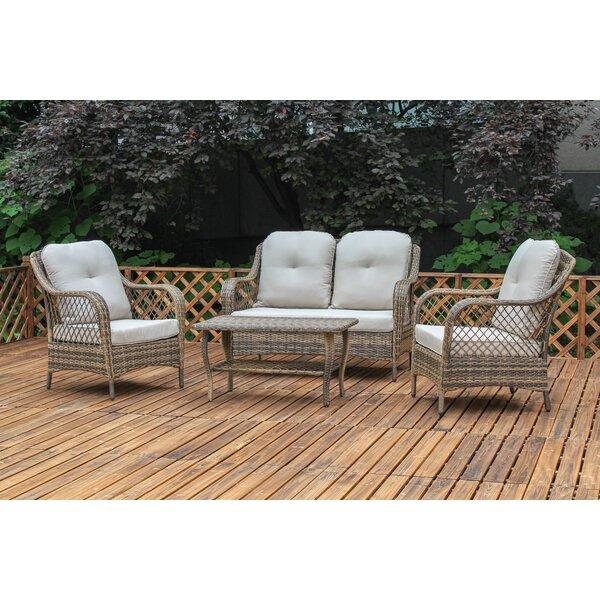 Bayou Breeze Alcesta 4 Piece Deep Seating Group With Cushion U0026 Reviews |  Wayfair