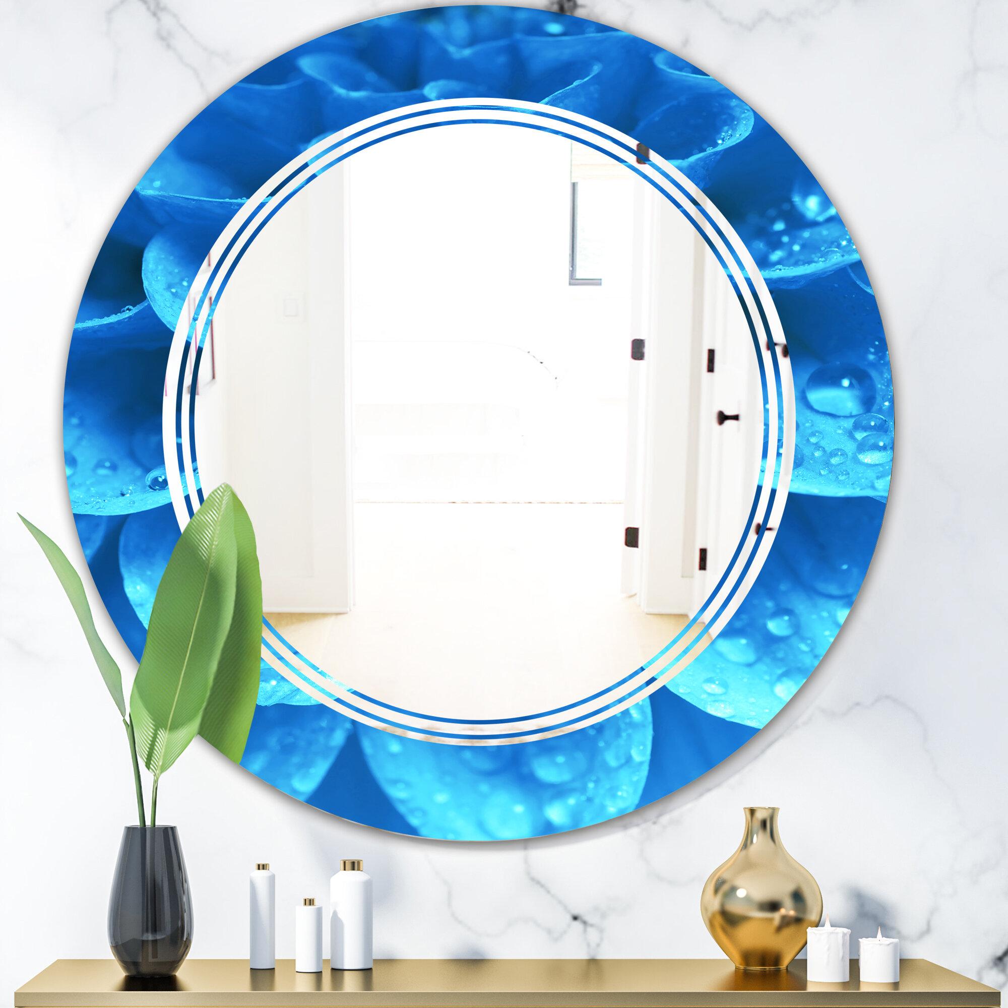 East Urban Home Whirl Floral V Modern Wall Mirror Wayfair