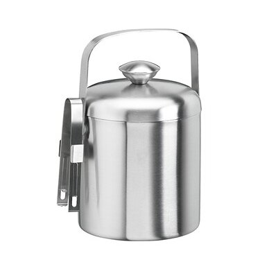 Charlton Home Rickert 1 5 Qt Ice Bucket With Tongs Reviews Wayfair