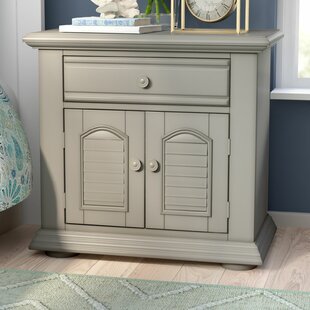 Beachcrest Home Hinsdale 1 Drawer Nightstand