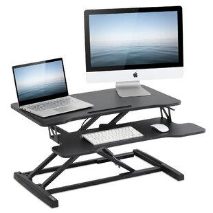 Piscitelli Height Adjustable Standing Desk Converter by Symple Stuff Great price