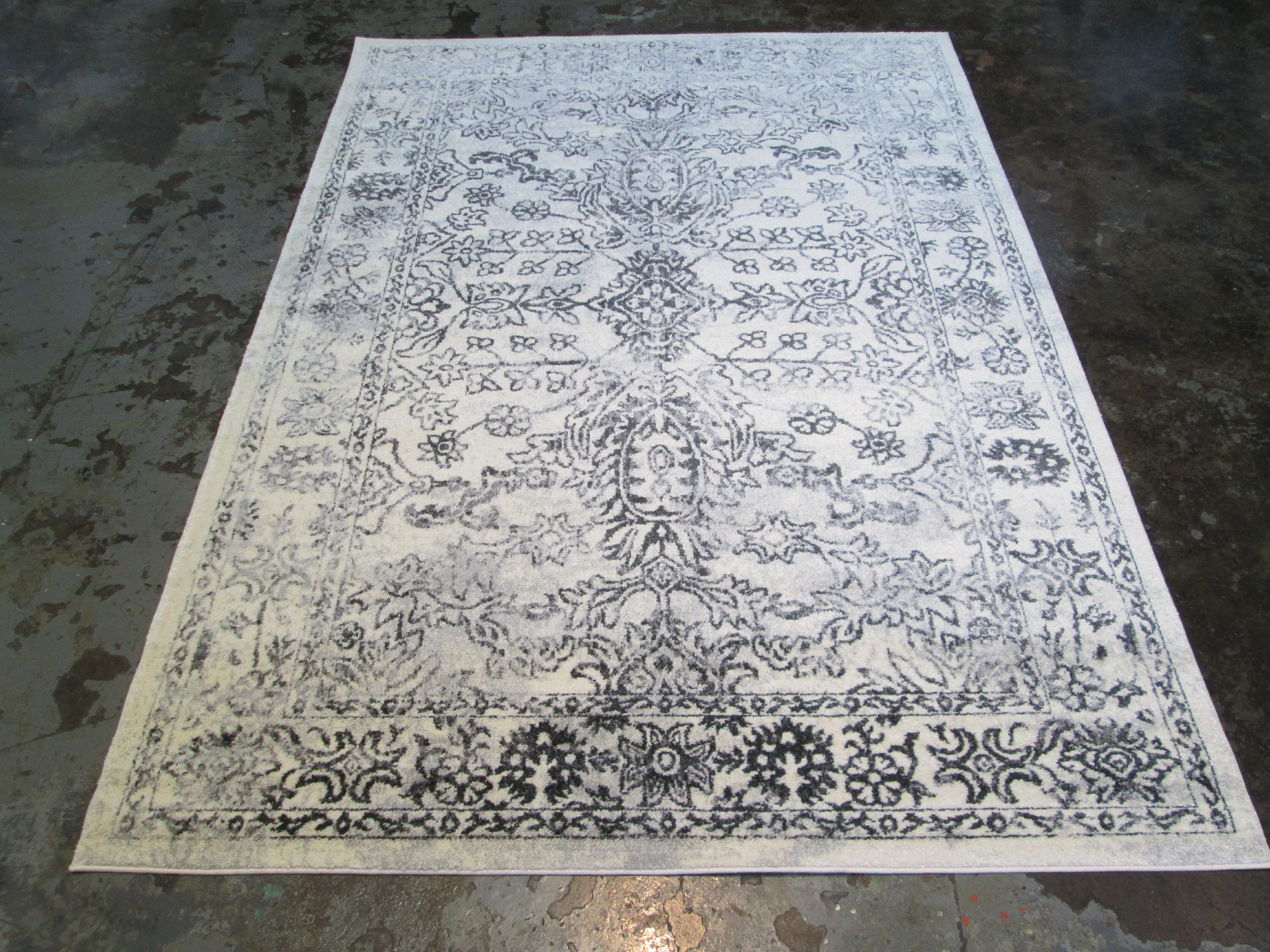 Jacoby Large Gray Black Area Rug