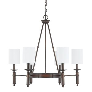 Bonneau 6-Light Shaded Chandelier