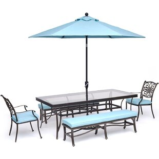 Robicheaux 5 Piece Dining Set with Cushions by Canora Grey