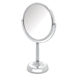 Lighted tabletop vanity mirror wayfair magnified tabletop swivel vanity mirror aloadofball Images