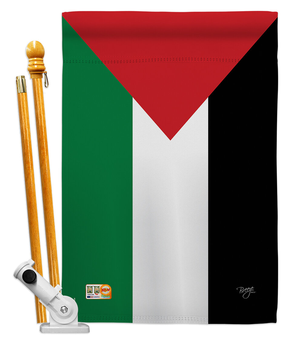 Breeze Decor Palestine Flags Of The World Nationality Impressions 2 Sided Polyester 40 X 28 In Flag Set Wayfair