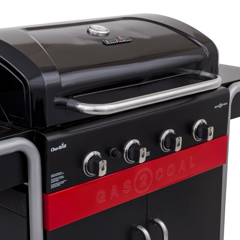 Gas2coal 4 Burner Propane Gas And Charcoal Grill