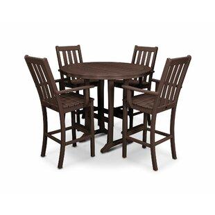 POLYWOOD® Vineyard 5 Piece Bar Height Dining Set