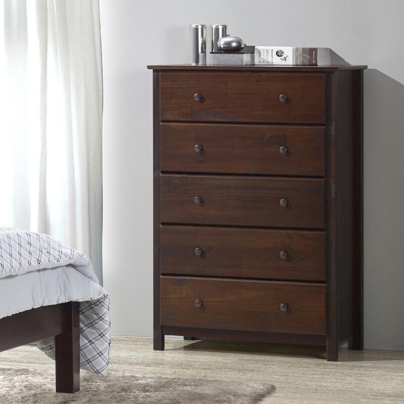 Grain Wood Furniture Shaker 5 Drawer Chest Amp Reviews Wayfair