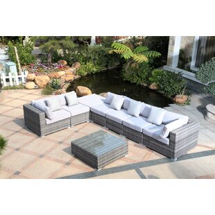 Villalta 8 Piece Sectional with Cushions by Latitude Run