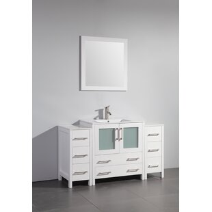 Karson 54 Single Bathroom Vanity Set with Mirror by Wade Logan
