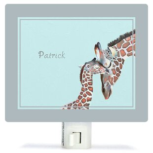 Oopsy Daisy Personalized You And Me Giraffe Canvas Night Light