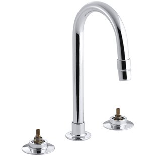 Kohler Triton Widespread Commercial Bathroom Sink with Gooseneck Spout and Rigid Connections, Requires Handles, Drain Not Included
