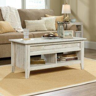 Rustic White Wash Coffee Table | Wayfair