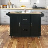 Lomas Kitchen Island Solid Wood by Red Barrel Studio®
