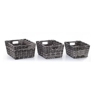 Find the perfect Nesting Rectangular Shelf Storage 3 Piece Wicker/Rattan Basket Set By Rosecliff Heights