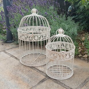 2 Piece Metal Terrarium Set By Lily Manor