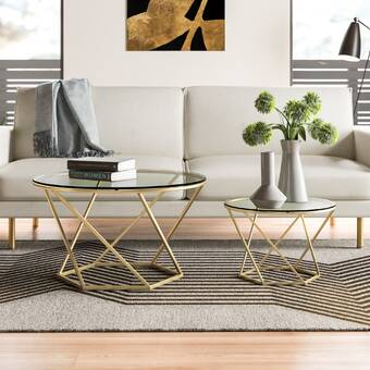 Europeanfurniture Veronica Iii Oval 2 Piece Coffee Table Set Wayfair