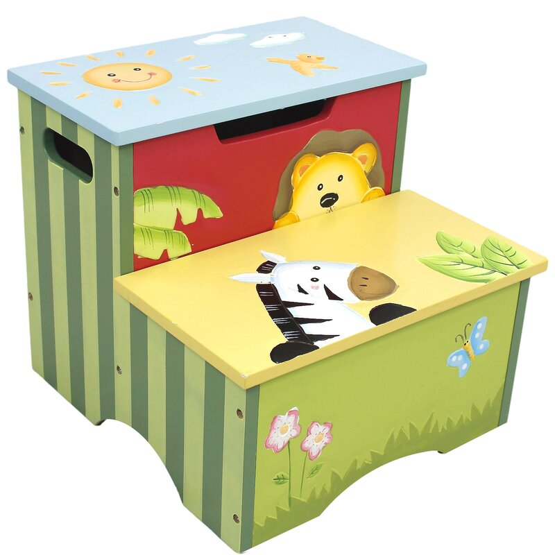 Sunny Safari Kids Step Stool With Storage