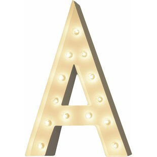 Great deal Letter 13-Light Outdoor Marquee Light By TrekBeds