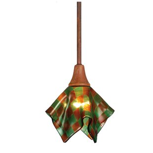 Meyda Tiffany Metro Fusion Patchwork Handkerchief 1-Light Novelty Pendant