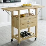 Watley Drop Leaf Kitchen Cart by Charlton Home®