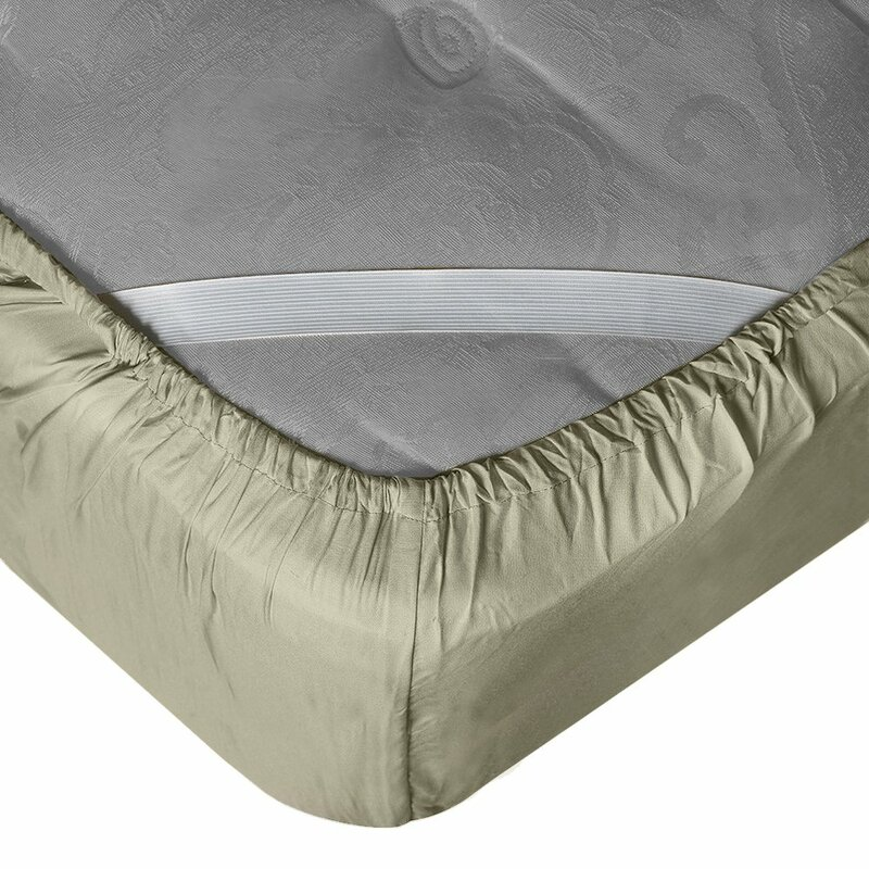 """21"""" Extra Deep Pocket Ultra Soft Fitted Sheet with Corner Straps King Black"""