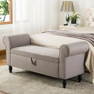 Valle Upholstered Storage Bench by Charlton Home