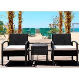 Lola 3 Piece Bistro Set with Cushions by Rosecliff Heights