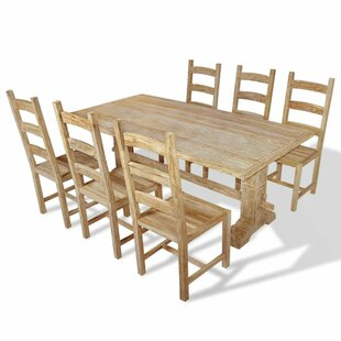 Cristobal Dining Set With 6 Chairs By Union Rustic